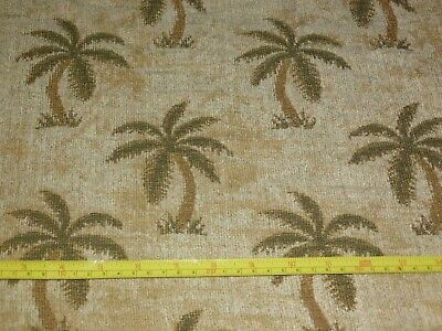 4 Yards Of Tropical Palm Tree Fabric Upholstery Weight Chenille Rox 54 Wide