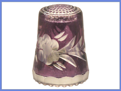 Lead Crystal Glass Thimble by Ullmannglass, Germany