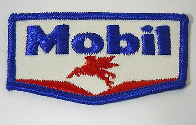 """MOBIL OIL & GAS Embroidered Sew-On Uniform-Jacket Patch 3"""""""