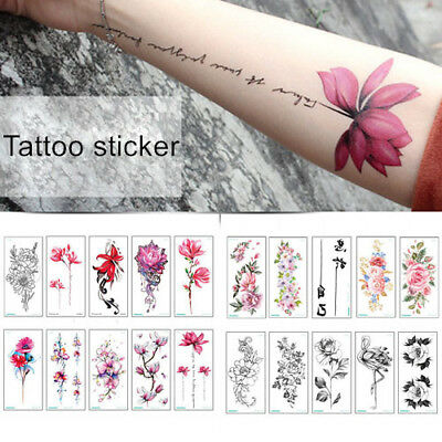 Creative Ink Painting Flowers Sticker And 3D Body Art Temporary Tattoo Sticker