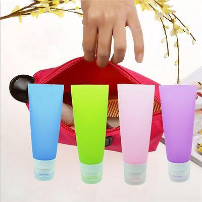 Silicone Travel Shampoo Lotion Makeup Bath Gel Container Squeeze Bottle YI