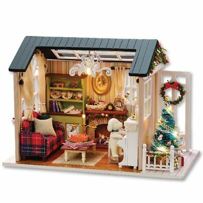 Miniature DIY Doll House For Girls Wooden Building Furniture Toys Christmas Gift