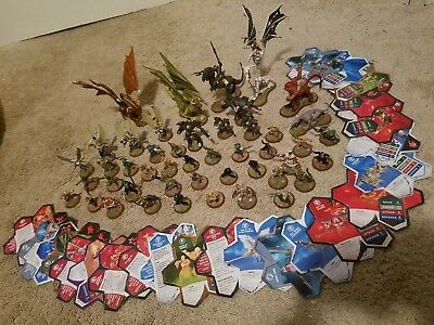 Heroscape HUGE LOT Of 46 Figures and Cards! RPG Army DRAGONS MONKS orm's jandar