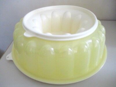 Vintage Retro Tupperware large Yellow Jelly Mould Ring
