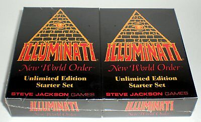 INWO Illuminati New World Order Unlimited Starter Set Steve Jackson Games 1995