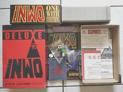 Illuminati DELUXE INWO One With Everything Factory Set CHESSEX BOOK 450 CARDS +?