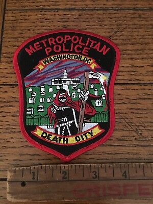 Metropolitan Police Homicide Unit Patch  Washington Dc Death City
