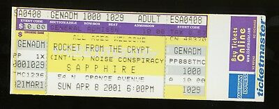 Rocket From The Crypt UNUSED 2001 CONCERT TICKET Group Sounds Tour/stub/no-cd/lp