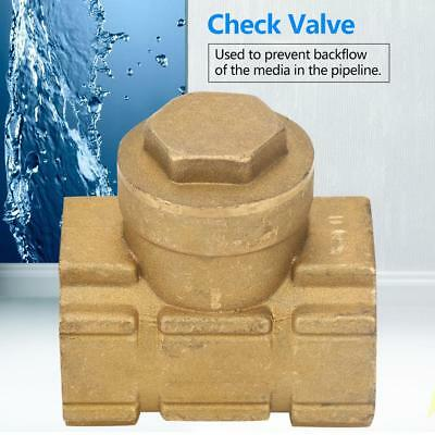 DN25 Brass One-way Automatic Swing Check Valve for Water Oil Acidic Media