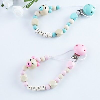 Cute Baby Personalized Silicone Pacifier Soother Dummy Clip Baby Soother Holder