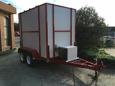 - 10 x 6 Foot - Portable & Mobile - trailer - walk in Cool Room - 3500 GVM