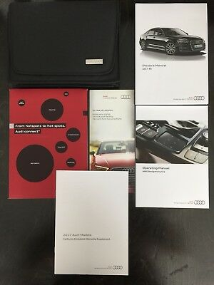 2017 Audi A6 Owners Manual W Navigation 12 Years On