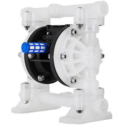 "1/2"" Air Driven Double Diaphragm Pump PTFE O-Rings Valve Balls Included 33lpm"