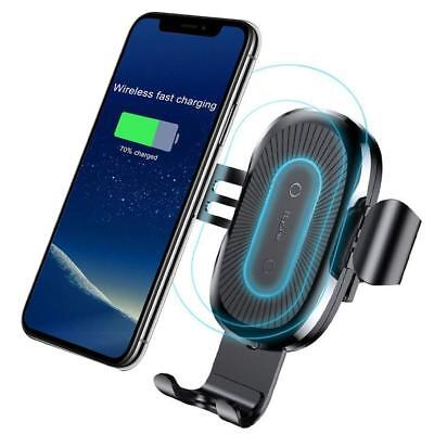Baseus Qi Wireless Car Charger Mount Holder iPhone XS MAX XR 8 Samsung S9+ Note9