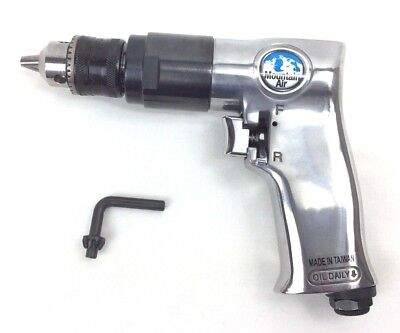 "Pneumatic Air Drill Variable Speed 3/8"" Reversible Air Power 1800RPM Pistol Grip"