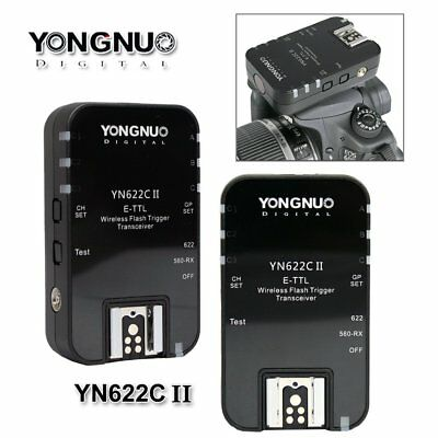 Yongnuo YN-622C II Wireless TTL Flash Trigger for YN560-TX Canon 6D 60D 7D II US