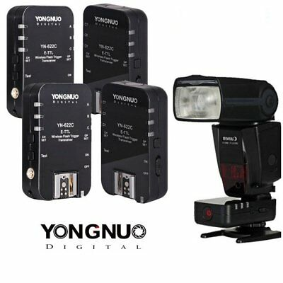Yongnuo YN-622C Wireless E-TTL Flash Trigger 4PCS Canon 5D Mark III 650D 7D US