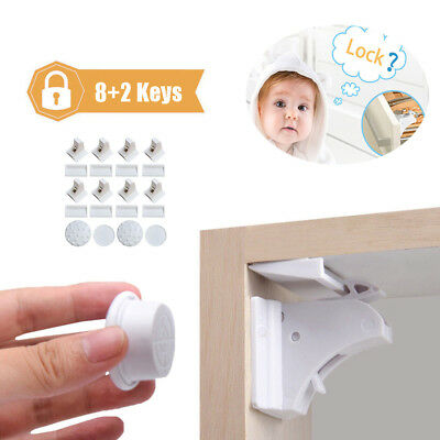 Magnetic Invisible Baby Child Pet Proof Cupboard Door Drawer Safety Locks Catch