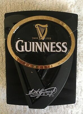 Guinness Metal Beer Tap Decal Badge Top - Arthur Guinness Signature Mancave NEW