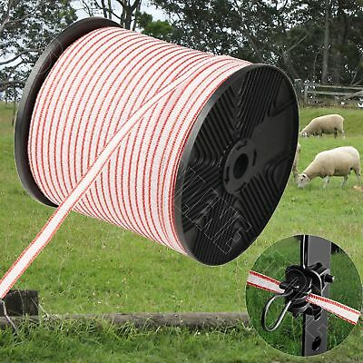Roll Polytape 400m Electric Fence Poly Tape Energiser Stainless Steel Insulator