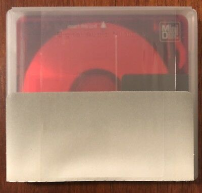 NEW Sony MiniDisc 80 Blank Recordable MD Color Collection Ruby Red SEALED