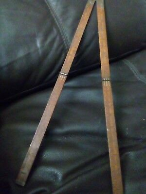 vintage folding wooden yardstick