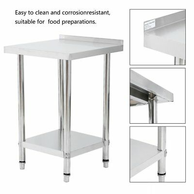 CATUO Stainless Steel Commercial Catering Table Work Bench Kitchen Top New