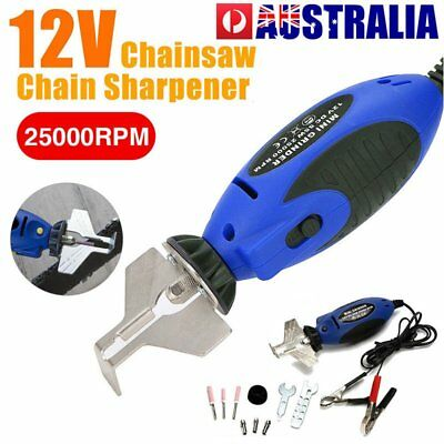 Portable 12V Electric Chain Saw Chain Sharpener Sharpening Grinder File Pro Tool
