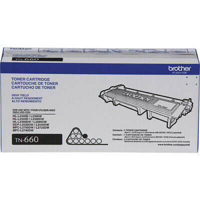 Brother TN660 High-Yield Toner Cartridge Black BRAND NEW | GENUINE | NIB