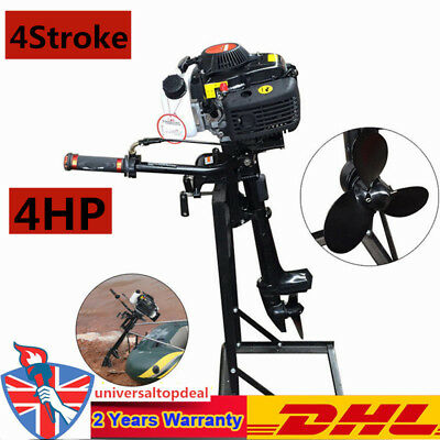 4 Stroke 4HP Heavy Duty Outboard motor Engines Air Cooling 2.8KW CDI UK NEW