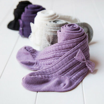 US STOCK Baby Girl 0-6Years Knitted Socks Warm Tights Stocking Pantyhose Pants