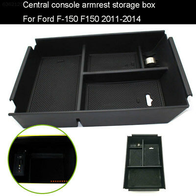 C7D7 Cars Storage Armrest Car Storage for for Ford F-150 Auto Useful ABS Black