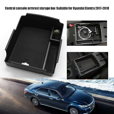 For Hyundai Elantra 2017-2018 Central Console Storage Box Tray Armrest Container