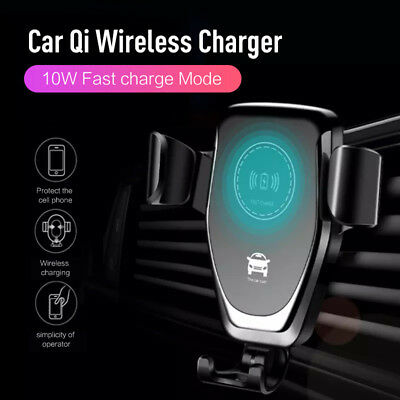 10W Qi Wireless Charger Car Air Vent Mount Holder For iPhone X XS XR Samsung S8+