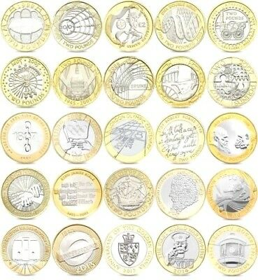 Cheapest Rare Uk Coin Hunt £2 Two Pound Coins - Free Uk P&p***