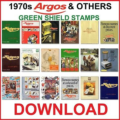 1970s ARGOS AND GREEN SHIELD STAMPS CATALOGUE ANTIQUE DOWNLOAD