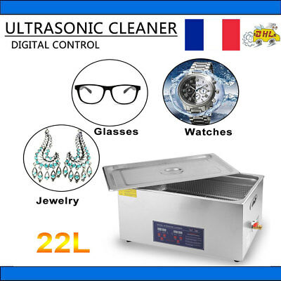 Nettoyeur a Ultrasons 22L Professionel + Chauffage + Panier + Couvercle CE/RoHS
