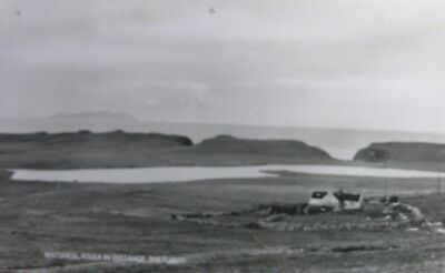 Watsness (Foula In Distance) Shetland Early Rp Pc