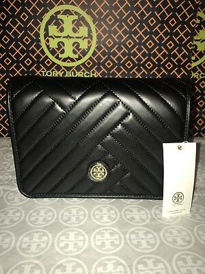 789f6eb0934 TORY BURCH BLOCK-T Pebbled Double-Zip Crossbody Bag Royal Navy Blue ...