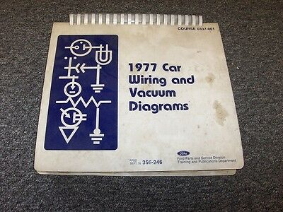 1977 lincoln mark v 5 & continental electrical wiring & vacuum diagram  manual