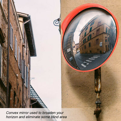 "12"" Traffic Convex Mirror Safety 130° Wide Angle Driveway Road Outdoor Security"