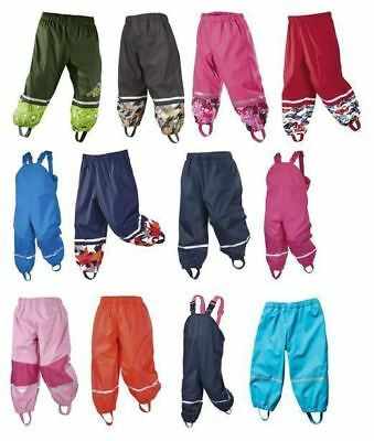 Kids Girls Boys 12 24 months Waterproof Trousers Rainy Days Warm Fleece