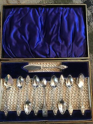 Stunning Cased Set Of Thomas Bradbury Art Nouveau Epns Cutlery