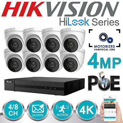Hikvision 5Mp Cctv System 4K Uhd Dvr 4Ch 8Ch Motorised Camera Home Security Kit