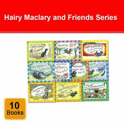 Hairy Maclary and Friends Series 10 Books Collection Set by Lynley Dodd NEW Pack