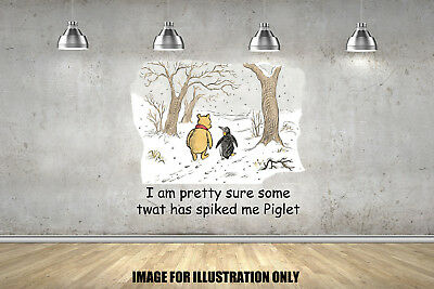 Winnie The Pooh Spiked Funny Quote Inspirational Adults Wall Stickers Decals