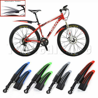 Cycling Mountain Bike Bicycle Front Rear Mudguard Fender Mud Guard Set Coloured