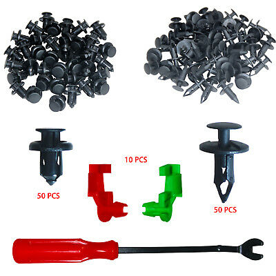 Auto Clips 110 Pcs Car Panel Trim Plastic Fasteners  Rivet Clips For Ford Toyota
