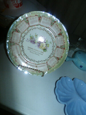ANTIQUE 1909 CALENDAR PLATE George E. Straw Fancy & Staple groceries Wall Penna