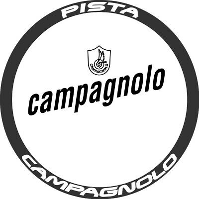 Two Wheel Stickers Set for Campagnolo Pista Fixed Gear Bicycle Carbon Decals
